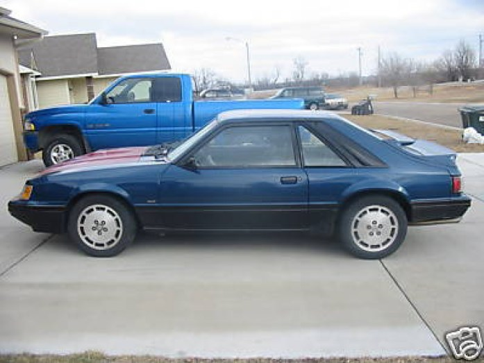 1986 Mustang Svo 7b Dark Shadow Blue